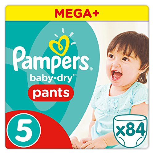 Pampers Baby Dry Pants Windeln, Gr. 5 (11-18 kg), Mega Plus, 1er Pack (1 x 84 Stück)