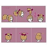 BeautyLifeⓇ Mädchen Damen Haar-Torsion Schwamm Klipp Haarpflege Styling Flechten Halter Größere Größe 22cm