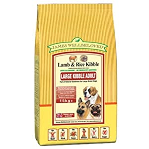 Large Breed Adult Complete Dog Food with Lamb and Rice 15kg