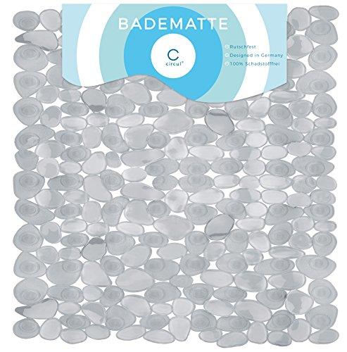 Circul Duschmatte 53 x 53 cm grau transparent Steinoptik
