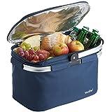 VonShef 22 L Große Isolierte Kühltasche - Marineblau