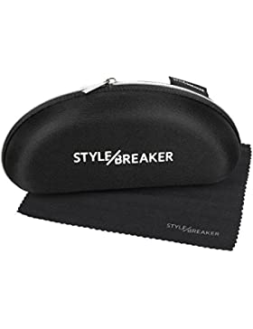 styleBREAKER gafas de aviador elegantes de señora, gafas de sol de aviador con patillas barnizadas y piedras de...