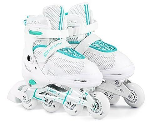 Hop-Sport 3 in 1 Inliner Inlineskates Rollschuhe Quad Dreirad Roller Jugend Erwachsene Farbauswahl Größe: 34-41 (Mint L (38-41))
