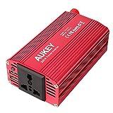 AUKEY Wechselrichter 300W, 12V auf 230V mit 2 USB Ports, 1 Steckdose und Zigarettenanzünder Stecker für Smartphones und kleine Haushaltsgeräte im Auto
