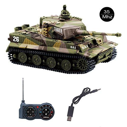 YouCute Mini RC Tank con Cable Cargador USB Control Remoto...