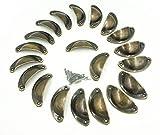 sunreek ™ 20PCS Metall Küche Schränke Möbel Kleiderschrank Medizin Griff Vintage Schubladenknopf zieht, antik bronze (Länge: 82mm Breite: 32mm)