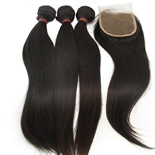 Lanova-Beauty-Womens-3Bundles1Closure-100-Raw-Virgin-Remy-Hair-Extensions-Peruvian-Straight-Extension-3Pcs-326and-1piece-Remy-Hair-Closure4420-by-LaNova-Beauty