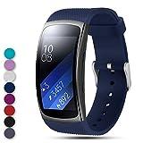 Feskio Bracelet de Montre de Rechange pour Samsung Gear Fit2 Pro / Fit2 SM-R360, Bracelet de Bracelet en Silicone Souple Bracelet de Sport pour Montre Samsung Gear Fit2 Pro et Fit 2 SM-R360