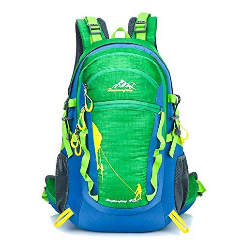 40L Rucksack Biken Outdoor Sport Large Kapazität leicht tragbar Rucksack Bergsteigen Wandern Rad Klettern Multifunktions Tasche H52 x L28 x T20 cm Green