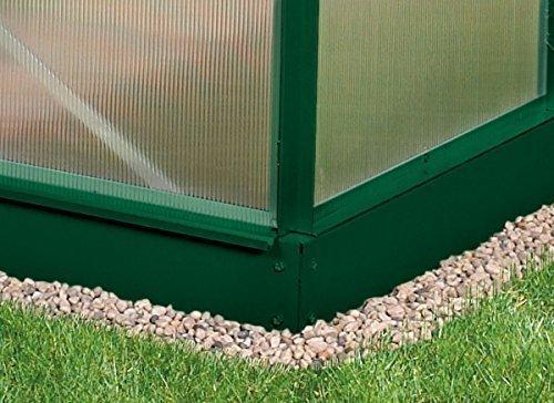 Vitavia Stahl-Fundament 6200, 12,5 cm für Gewächshäuser grün