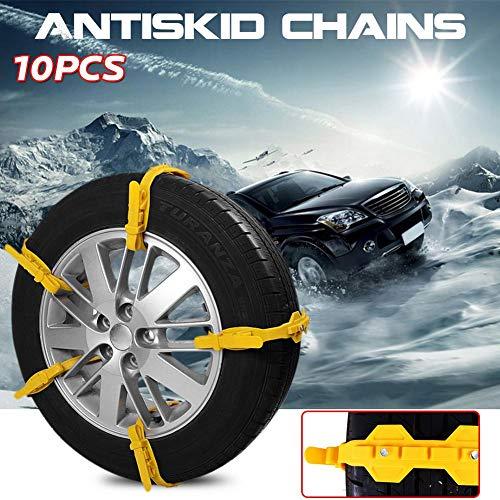 Leiyini Schneeketten Universal Auto Reifen Notfall Schnee Reifen Kette Auto Sicherheitskette für Auto, LKW, SUV