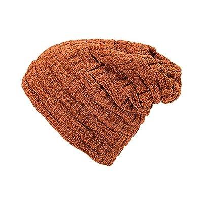 Zimuuy Männer Frauen Winter Beanie Mütze, Solid Color Verdickt Wolle Strick Hat Gehörschutz Slouchy Hut von Zimuuy - Outdoor Shop