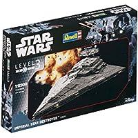 Revell Modellino di Star Wars Imperial Star Destroyer, in scala 1: 12300, Level 3, Riproduzione fedele all' originale con molti dettagli, facile da incollare e dipingere, 03609