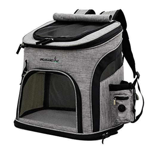 haohaochifan Bolso Portable del Animal Doméstico para IR hacia Fuera Morral para El Gato, Morral para Los Portadores del Animal Doméstico del Perro