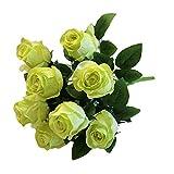 Bouquet de Fleurs pour mariée Elle élégant yesmile ️ 9Têtes Fleur artificielle Roses De Soie Bouquet de mariée fête de Mariage et Cuisine décoration