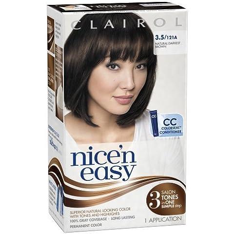 Clairol Nice 'n' Easy 3,5121A Castano Scuro Naturale, 1kit (Confezione da 3) by Clairol