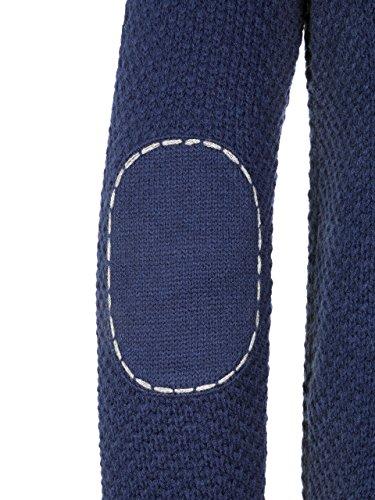 Almbock Strickjacke Herren Navy | Strickjacke XXL mit Reißverschluss | Trachten Strickjacke in Blau Größe XXL - 4
