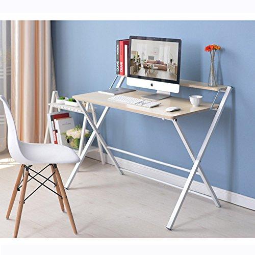 LJHA Klapptisch Tisch kleiner Tisch Bett mit Laptop Schreibtisch 4 Farben erhältlich Größe optional Tabelle ( Farbe : C ) (Groß Computer-schreibtisch, Kleiner)