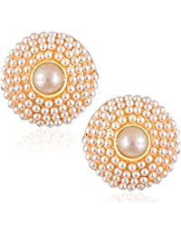 Meenaz Fashion Jewellery Traditional Gold Plated Pearl Crystal Earrings For Women Party Wear Stylish Designer... - B076V8XJ94
