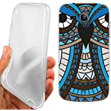 CUSTODIA COVER CASE BLU GUFO ETNICO PER SAMSUNG GALAXY TREND PLUS S7580