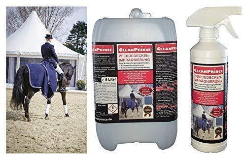 5,5 Liter CleanPrince Pferdedeckenimprägnierung Pferdedecken Imprägnierung Imprägniermittel Nässeschutz für Weidedecke Regendecke Fliegendecke Nierendecke Outdoor atmungsaktiv Einwaschimprägnierung -