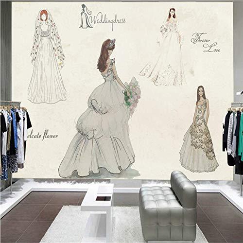 Dalxsh Uropean Und Amerikanische Mode Handgemalte Hochzeitskleid Schönheitssalon...