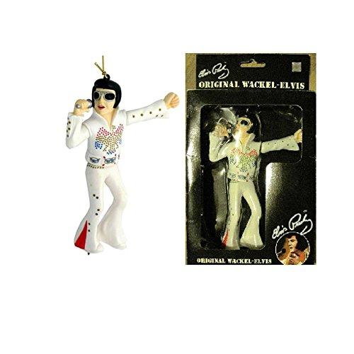 hotrodspirit–Figura Elvis música para retroviseur (blanco) Collector