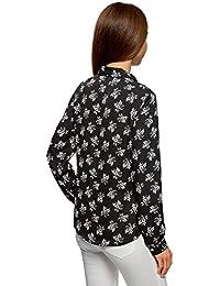 Amazon.es: camisa negra mujer - Floral y botánico / Camisetas, tops y blusas / Mujer: Ropa