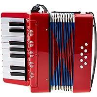 Classic Cantabile 37968 - acordeón para niños, 8 bajos, color rojo