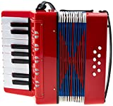 Classic Cantabile Bambino Rosso Kinder Akkordeon rot
