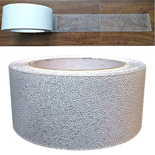 Gebildet Gummi Antirutsch Klebeband, Antislip selbstklebend Band, Grip Tape Sicherheitsband fur Treppen/Schritte/Badezimmer/Toilette/Schwimmbad (5m × 5cm, Transparent)