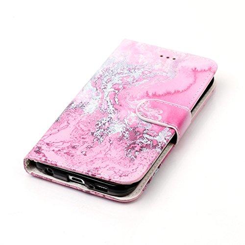 Für Samsung Galaxy S6 Edge Horizontale Flip Case Cover Luxus Blume / Marmor Textur Premium PU Leder Brieftasche Fall mit Magnetverschluss & Halter & Card Cash Slots ( Color : C ) G
