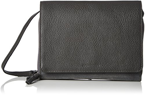 Royal RepubliQ Damen Raf Eve Suede Umhängetasche, 5x15,5x22 cm Grau (Anthracite)