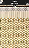 Maildor AD008O - Un paquet Satin stick'Pop 3 feuilles adhésives (21x29,7 cm - 21x26 cm et 21x21 cm) motifs assortis , Mandarine