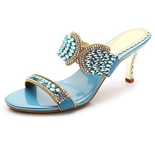 ZYUSHIZ L'été en plein air sandales pantoufles Mme 35EU