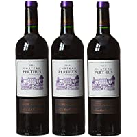 Château Perthus France Bordeaux Vin Cotes de Bourgeois AOP 75 cl - Lot de 3 -