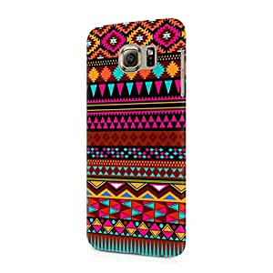 Cover Affair Aztec Printed Designer Slim Light Weight Back Cover Case for Samsung Galaxy S7 (Pink & White & Blue & Black & Other)