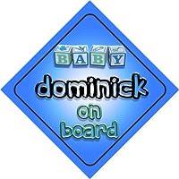 Baby Boy Dominick bordo novità auto segno, regalo per