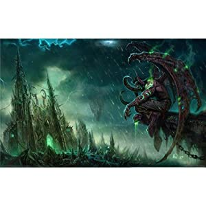 World of Warcraft – Illidan Sturmgrimm Seidenstoff Poster