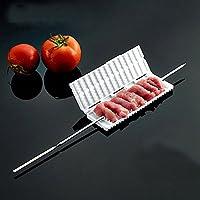Bazaar ABS BBQ Fleischspielautomat Barbecue Gemüse Fleisch Schnur Gerät für Schweinefleisch Rindfleisch BBQ Kebab Maker
