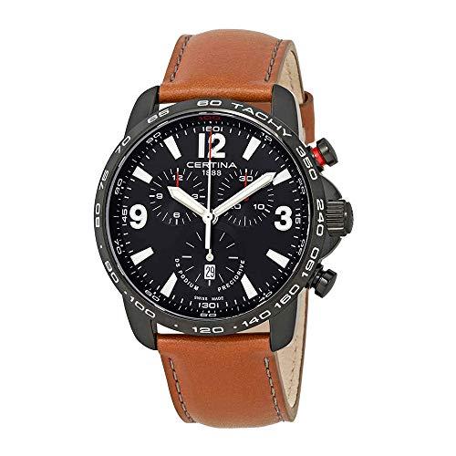 Certina DS Podium C001.647.36.057.00 - Reloj cronógrafo para hombre, esfera negra