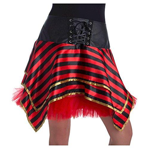 (Costume Damen Fasching Halloween Karneval Piraten Tutu Rock Pirat one Size)