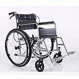 Shisky Leichter Faltbarer älterer Haushaltsrollstuhl Mobiler Rollstuhl für Behinderte tragbar