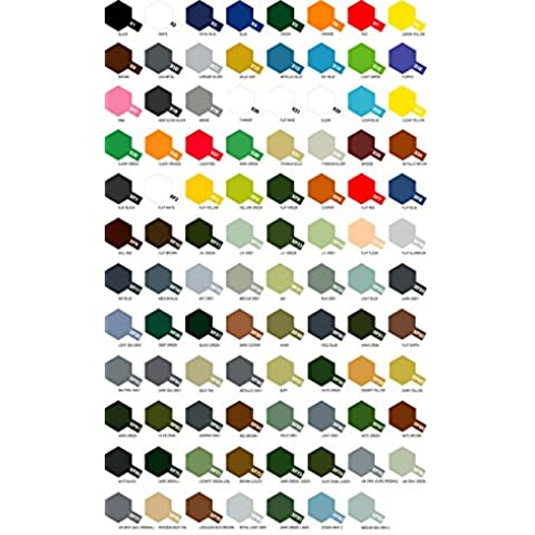 6 Botes de pintura acrílica Tamiya serie X- XF (a elegir de la carta de colores)