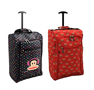 Paul Frank Hand Luggage Cabin approved Lightweight trolley wheeled bag 1.50kg 54x35x19CM (Fits Ryanair Cabin Restrictions)