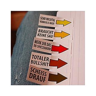 250 lustige Haftnotizen als Klebezettel (5 x 50 Blatt), Lesezeichen, Notizblock oder Sticky notes, Witzgeschenke für genervte Studenten oder als buntes Bürozubehör, 19 x 55 mm