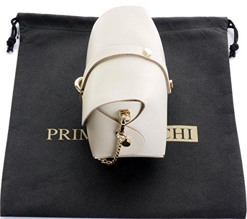 Borsa da sera Mini piccolo Micro spalla a tracolla pelle italiana con tracolla a catena in metallo.Include sacchetto protettivo marca Crema