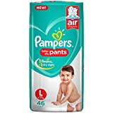 Pampers New Diapers Pants, Large, (46 Count)