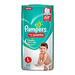 Pampers New Large Size Diapers Pants, 46 Count