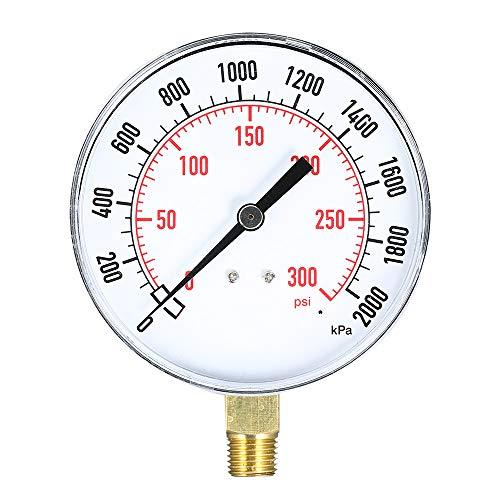 Docooler Wasser Luft Manometer 0~300 psi 0~2000kpa Mechanische Pool Filter Aquarium Gas Sprinkler Manometer 1/4 Zoll NPT Bottom Mount